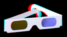 Anaglyphen 3D Brille, Pappe rot/cyan